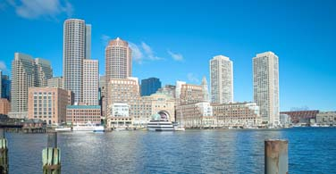 Pictured: A cityscape of downtown Boston.