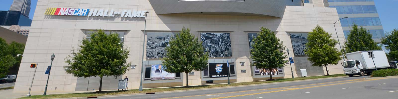 This is an image of the Nascar Hall of Fame building in Charlotte North Carolina. ASTA-USA provides professional translation services in this city.