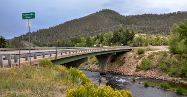 Pictured: A bridge in Colorado Springs Colorado.