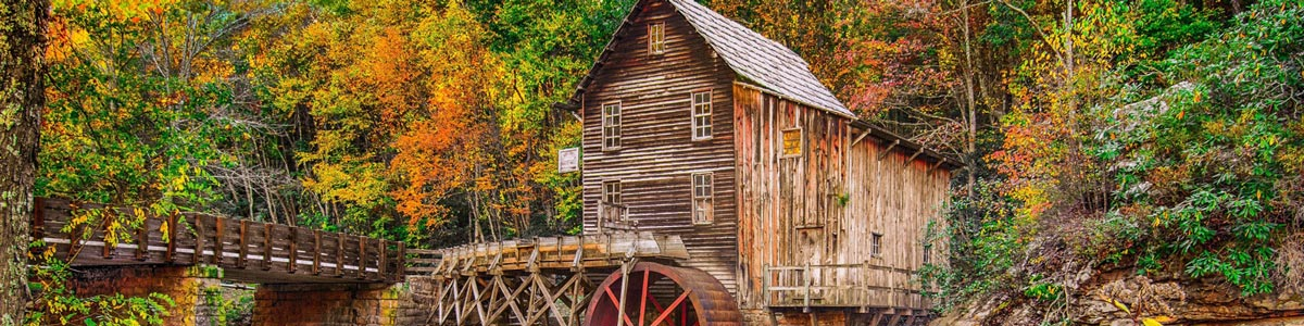 This is an image of a water mill in Fayetteville Arkansas where ASTA-USA provides professional translation services.