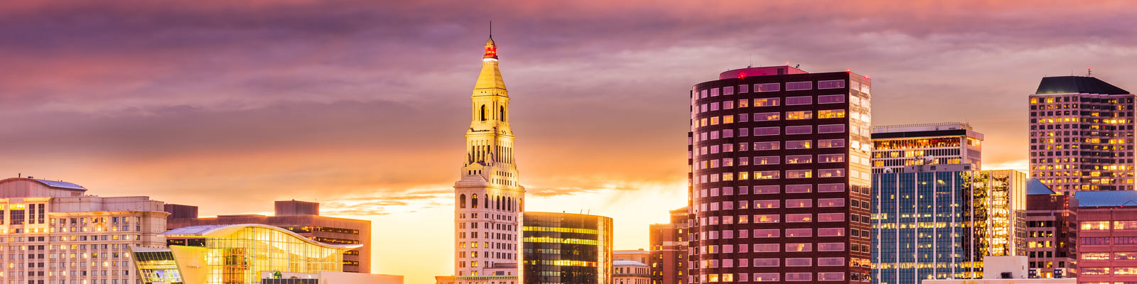 This is a cityscape image of downtown Hartford Connecticut where ASTA-USA provides professional translation services.
