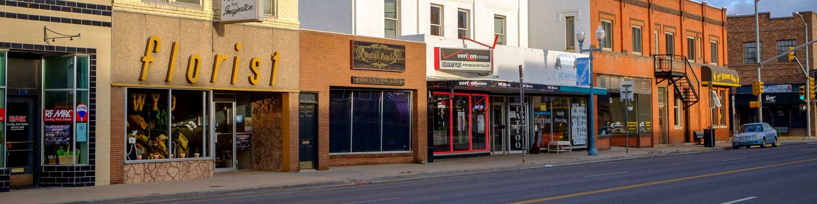 This is an image of business building in downtown Laramie. ASTA-USA provides professional translation services in this city.