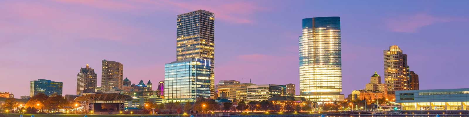 This is a skyline of downtown Milwaukee where ASTA-USA offers professional translation services.