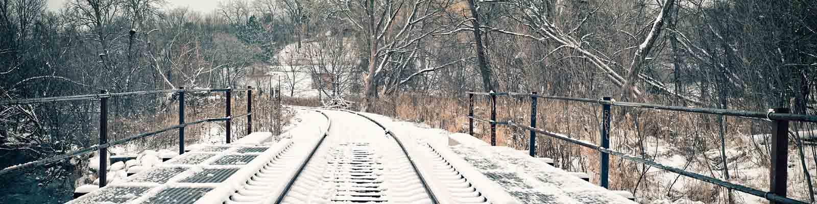 Pictured: Railroad tracks in Minnesota.
