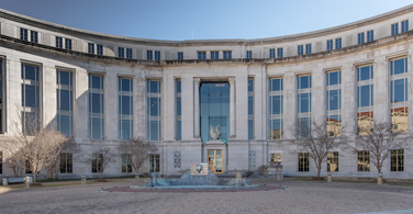 Pictured: The entrance of the Johnson Jr. Federal Courthouse in Montgomery Alabama.
