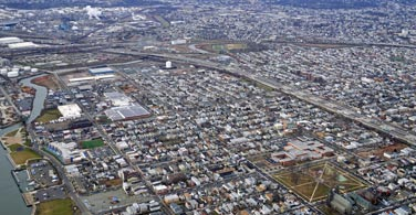 Pictured: An overhead view of Newark city in Delaware.