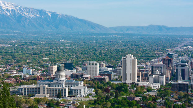 This is an image of downtown Salt Lake City Utah.
