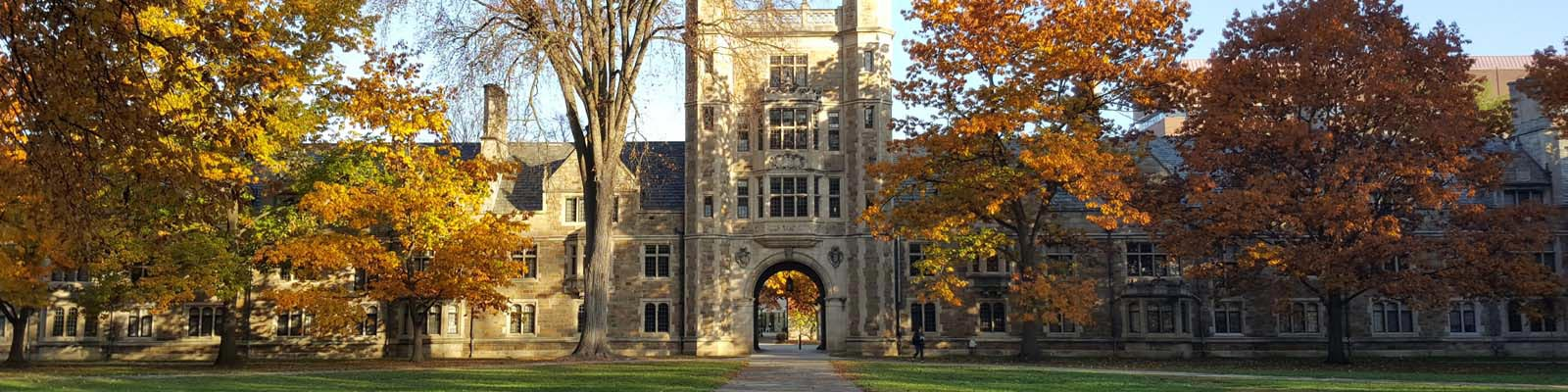This is an image of the Law Quadrangle building in Ann Arbor Michigan. ASTA-USA provides professional translation services in this city.