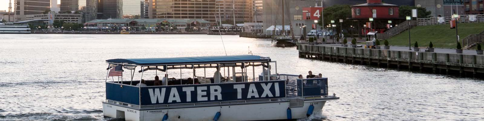 This is an image of a water taxi boat in Baltimore Maryland where ASTA-USA provides professional translation services.