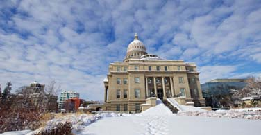 Pictured: The State Capitol building in Boise Idaho.