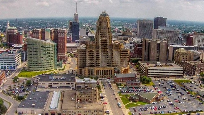 This is an image of downtown Buffalo New York.