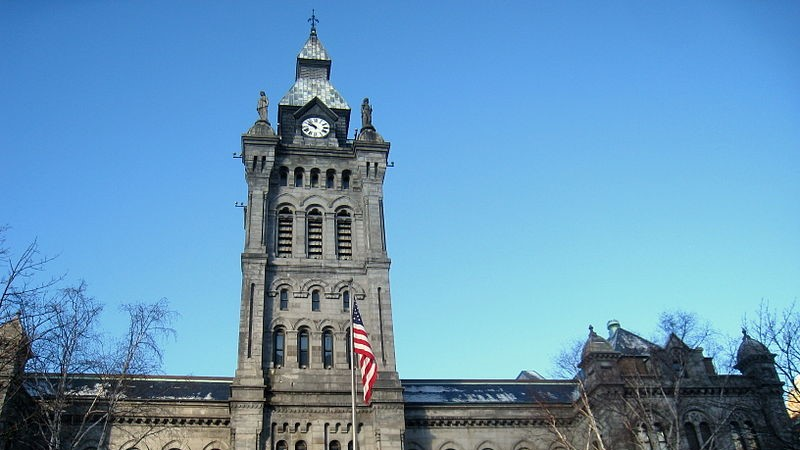 This is an image of the Buffalo County Hall building.