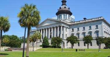 Pictured: The State House in Columbia South Carolina.