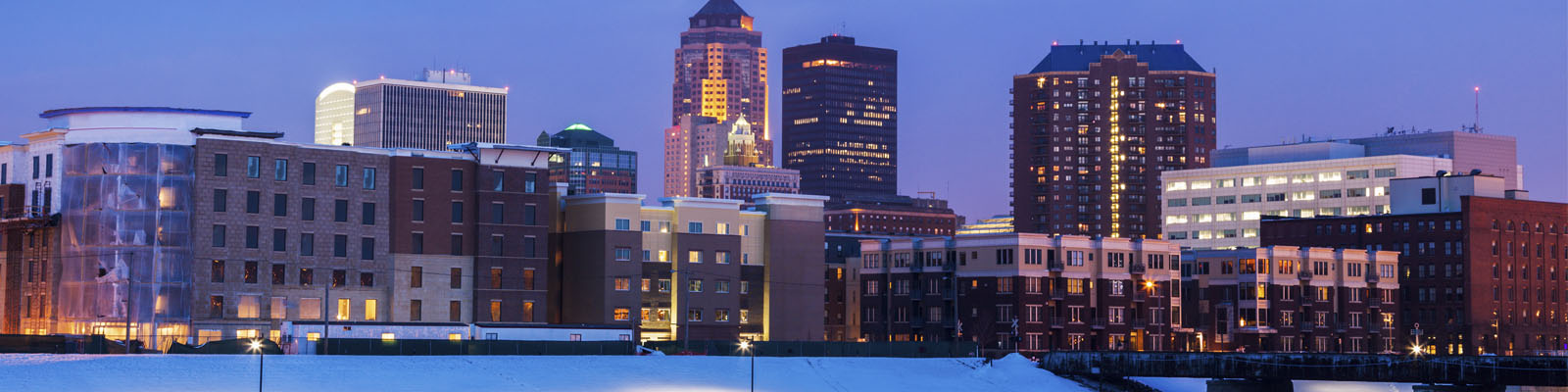 This is a cityscape image of Des Moines Iowa where ASTA-USA provides professional translation services.
