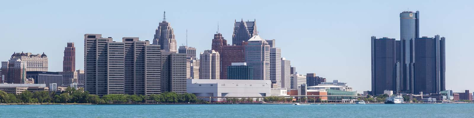 This is a cityscape image of Detroit Michigan where ASTA-USA provides professional translation services.