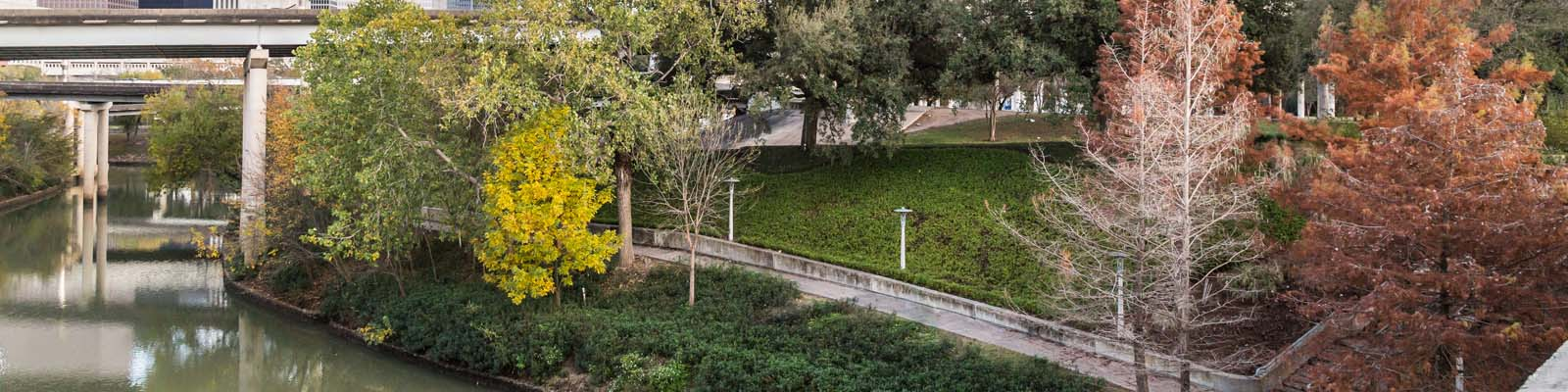 This is an image of path next to a river in Houston Texas. ASTA-USA provides professional translation services in this city.