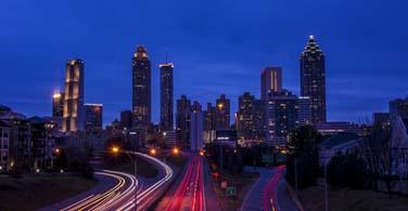 City of Jackson at night