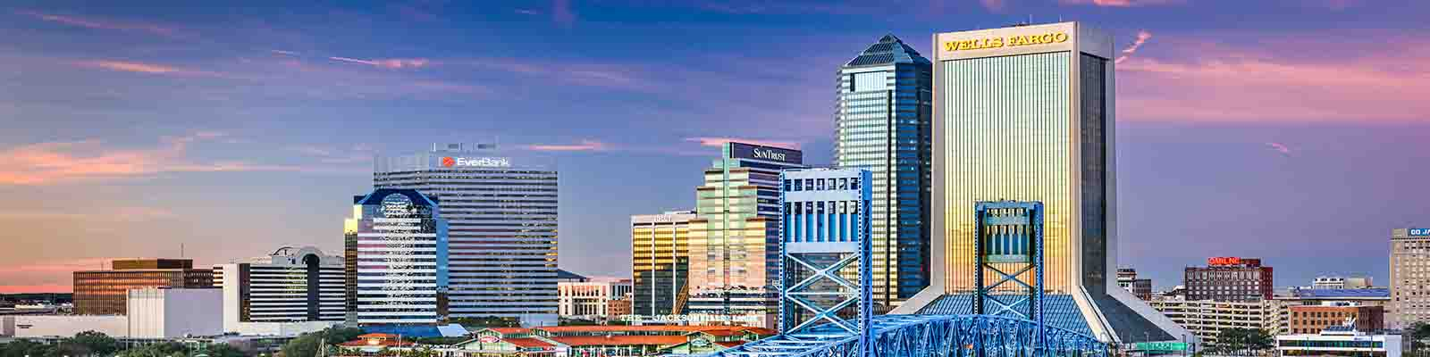 This is a skyline of Jacksonville where ASTA-USA provides professional translation services.