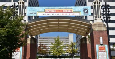 Pictured: The entrance to Market Square in Knoxville Tennessee.