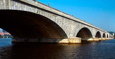 Pictured: An arch bridge in Lincoln Nebraska.