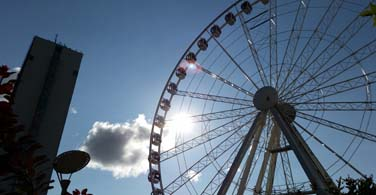 Pictured: A large ferris wheel in Manchester New Hampshire.