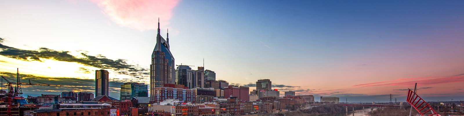 This is a skyline view of downtown Nashville where ASTA-USA offers professional translation services.
