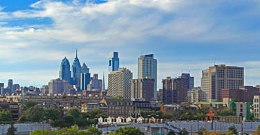 Pictured: A daytime skyline of downtown Philadelphia Pennsylvania.