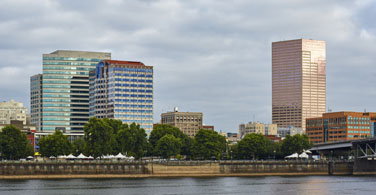 Pictured: A cityscape of downtown Portland Oregon.