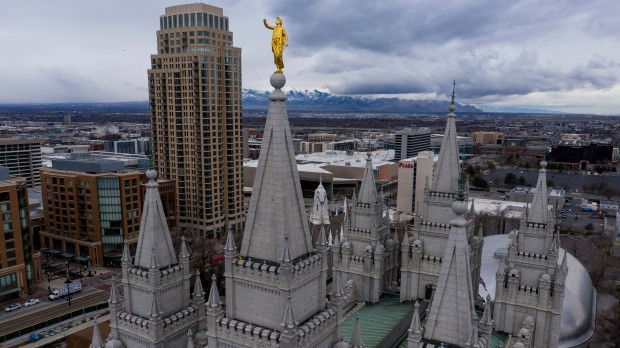 This is an image of the Salt Lake City Temple.