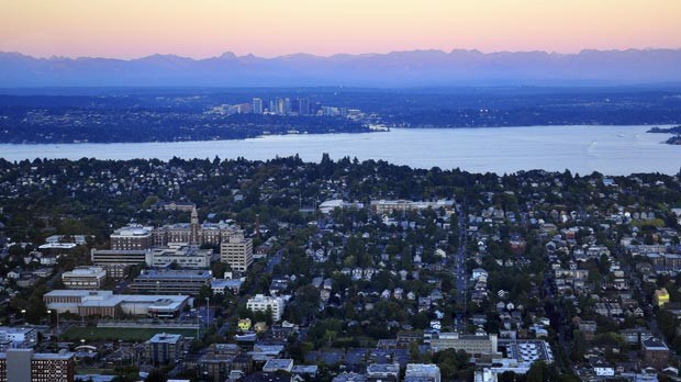 This is a skyline image of downtown Seattle.