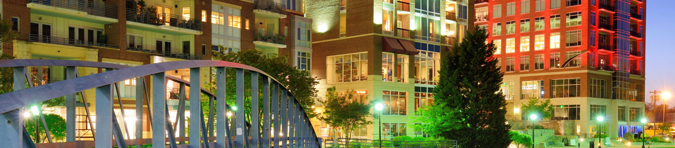 This is an image of downtown Greenville South Carolina where ASTA-USA provides professional translation services.