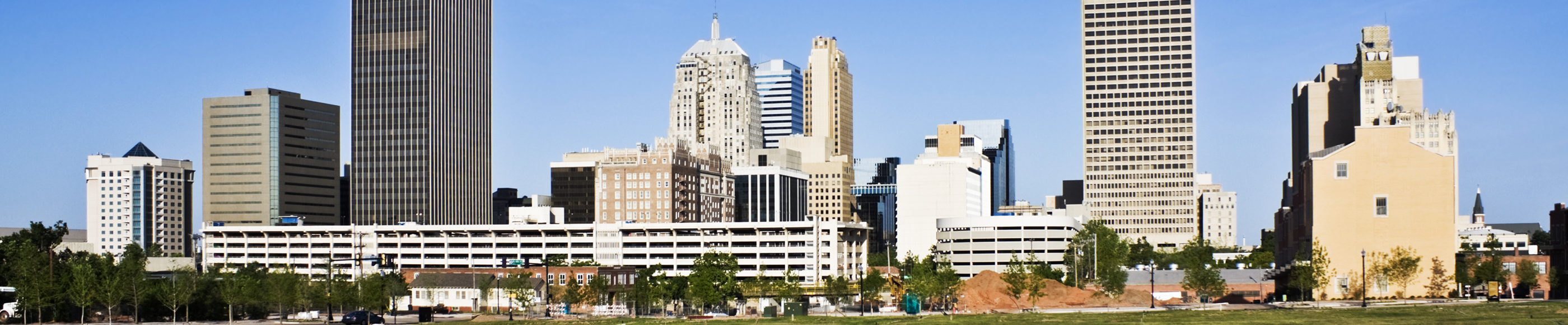 This is a skyline of downtown Oklahoma City where ASTA-USA offers professional translation services.