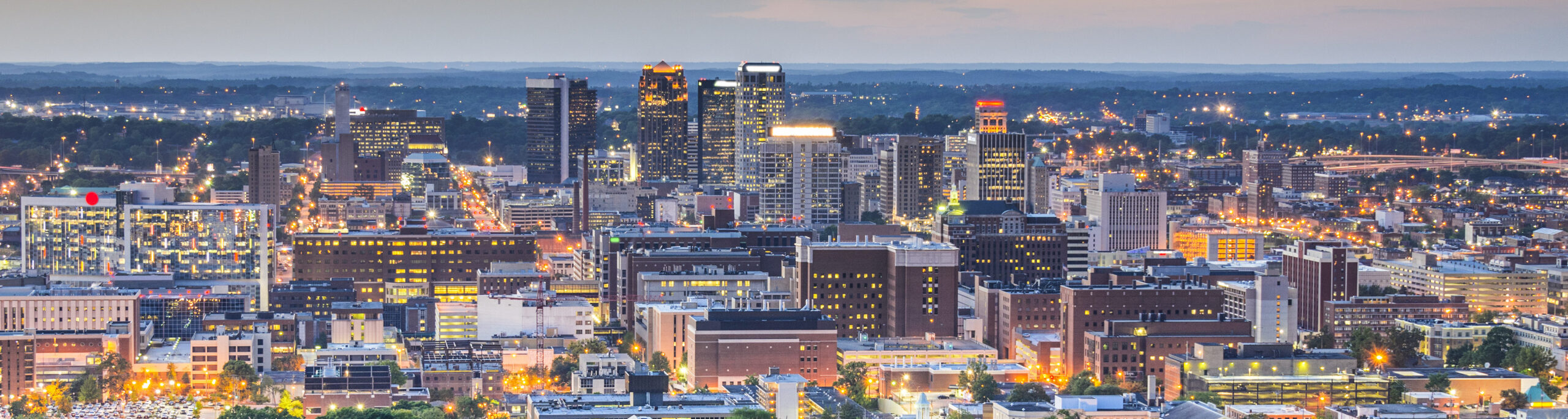 This is a skyline of downtown Birmingham where ASTA-USA provides professional translation services.