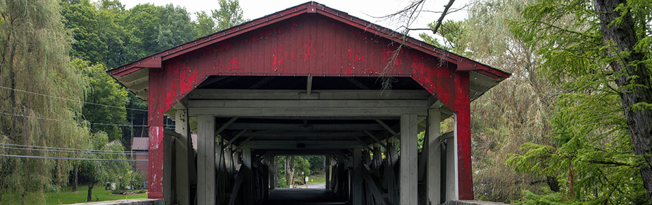 This is an image of a covered bridge in Allentown where ASTA-USA provides professional translation services.