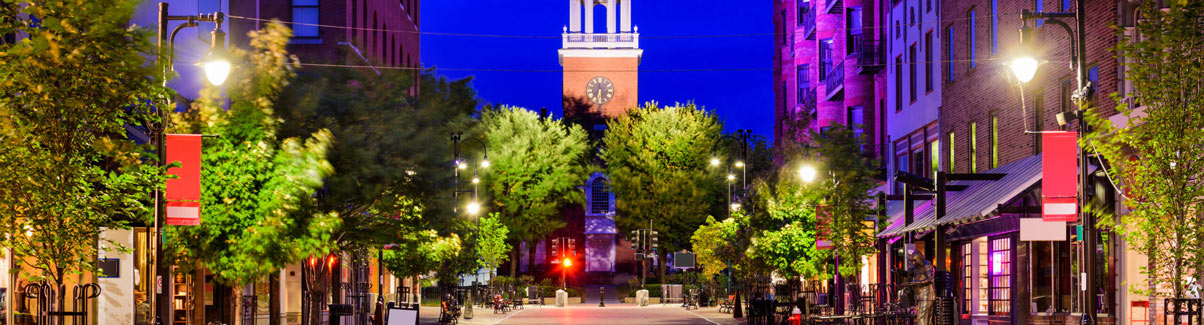 This is an image of downtown Burlington Vermont where ASTA-USA ASTA-USA provides professional translation services.