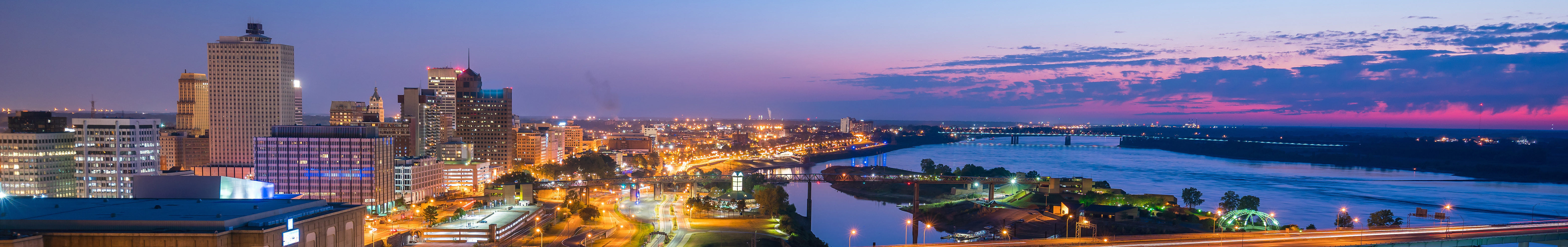 This is an overhead image of downtown Memphis where ASTA-USA offers professional translation services.