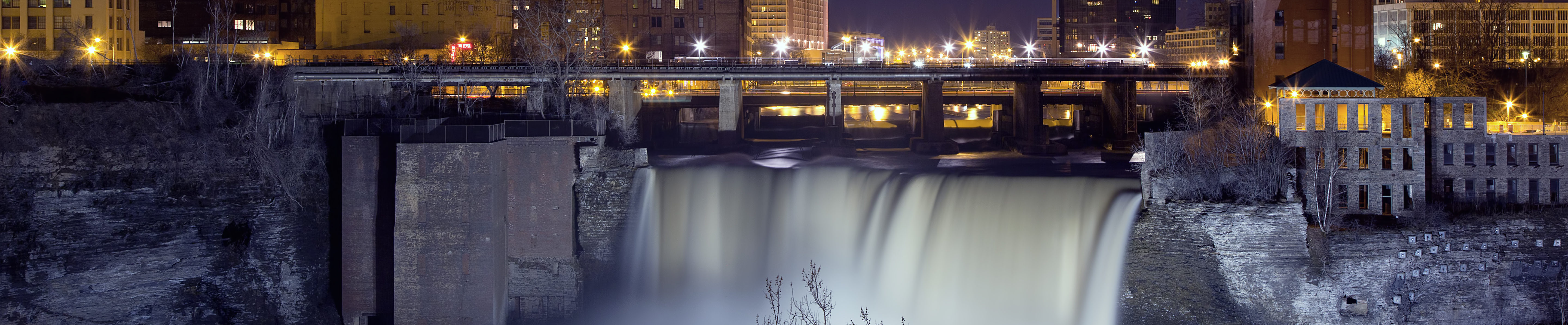 This is an image of the Genessee River Dam in Rochester. ASTA-USA provides professional translation services in this city.