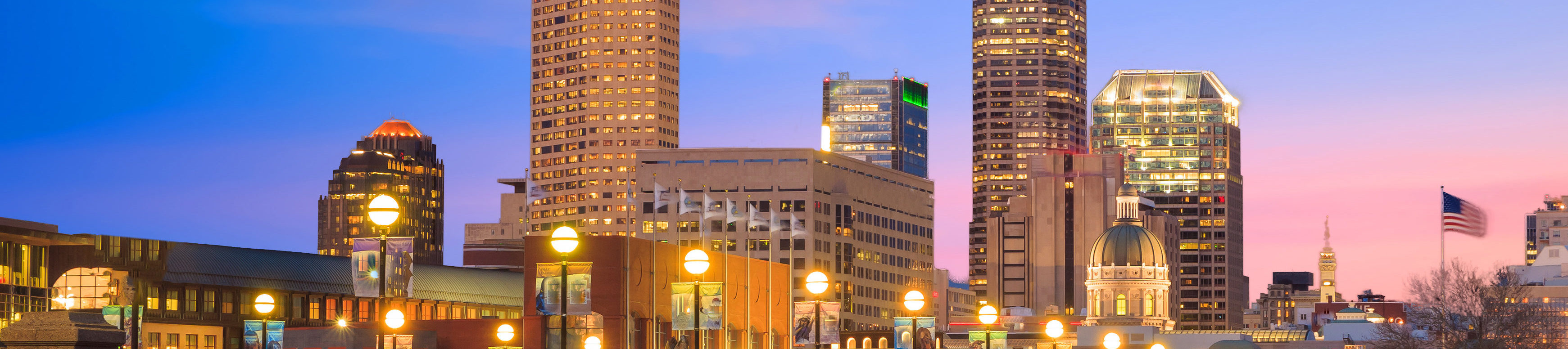 This is a skyline of Indianapolis where ASTA-USA provides professional translation services.