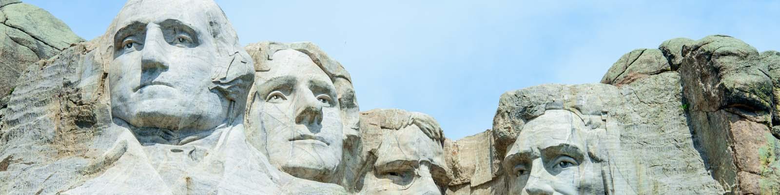 Pictured: Mt. Rushmore in South Dakota.