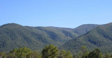 Pictured: Mountains in Tennessee.